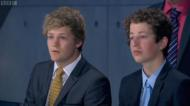 Harry Maxwell (left) on the last series of Young Apprentice