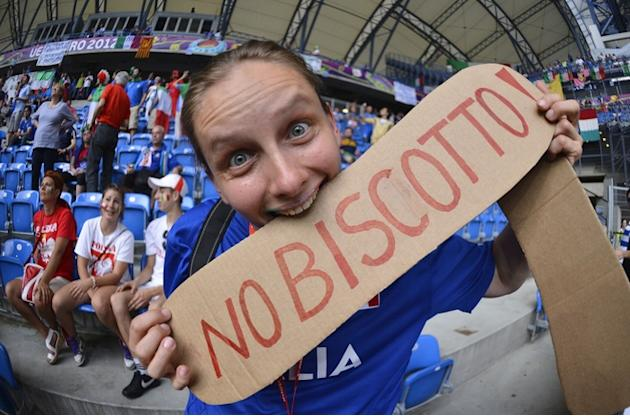 An Italian Fan Shows AFP/Getty Images