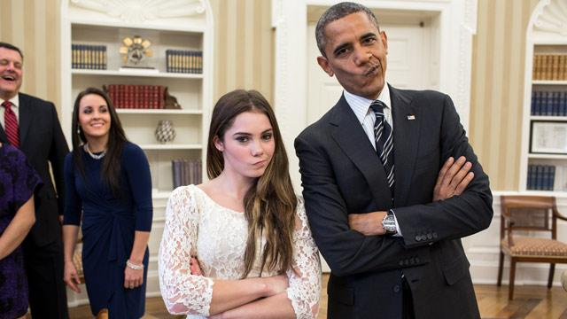 Obama, Olympian McKayla Maroney Are 'Not Impressed'
