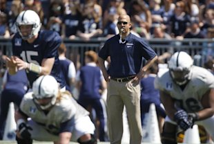 Franklin is trying to inject Penn State with the enthusiasm he brought to Vanderbilt. (AP)
