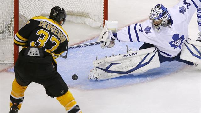 Ice Hockey - Maple Leafs stay alive with win in Boston