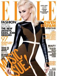 Gwen Stefani on one of the covers of ELLE's May Music Issue -- ELLE Magazine