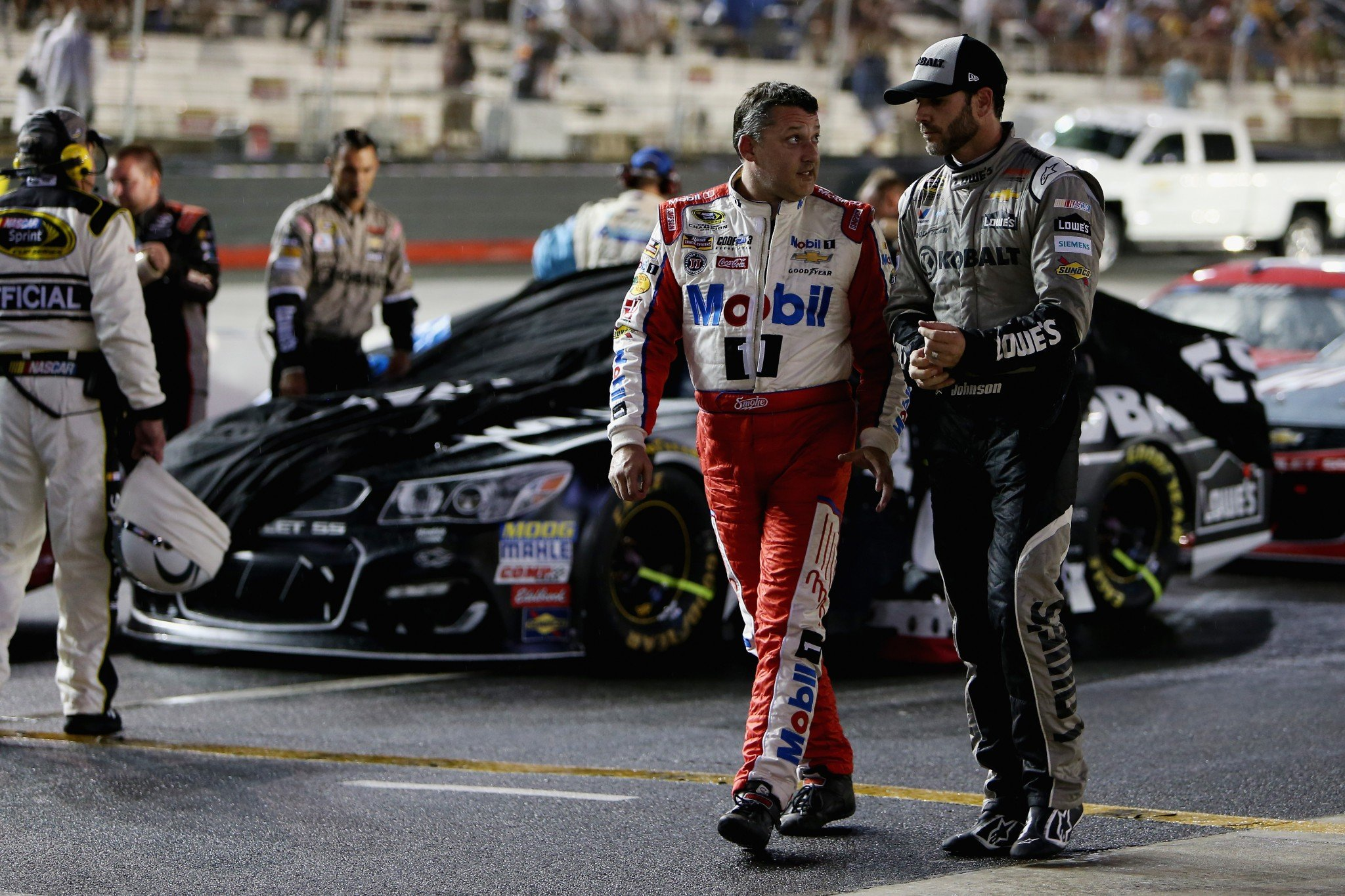 Tony Stewart and Jimmie Johnson have won nine Sprint Cup titles combined. (Getty)
