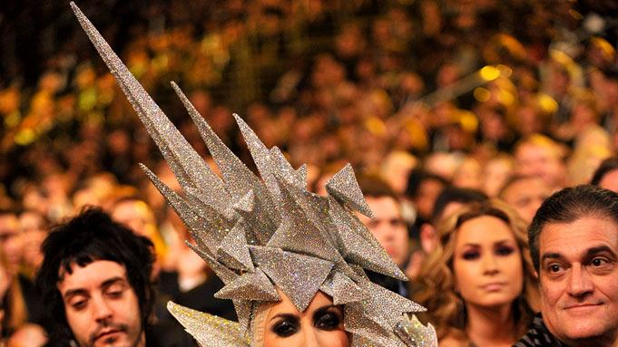 Lady Gaga at The 52nd Annual Grammy Awards held at Staples Center on January 31, 2010 in Los Angeles, California.