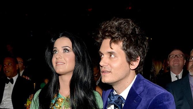 The 55th Annual GRAMMY Awards - Backstage And Audience: Katy Perry and John Mayer