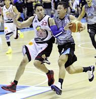 Gary David (right) hit two clutch jumpers for Smart Gilas II against Korea in the Jones Cup. (PBA Images)