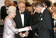 The Queen meets actor Daniel Craig at a James Bond premiere in Leicester Square. Queen Elizabeth, who last month celebrated her diamond jubilee marking her 60 years on the throne, was approached in 2011 to ask if she would participate in a sketch for the Olympic opening ceremony