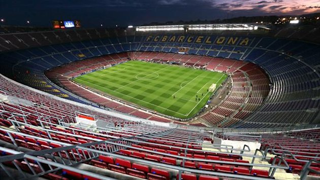 A general view of the Nou Camp Stadium, home of Barcelona (PA Photos)
