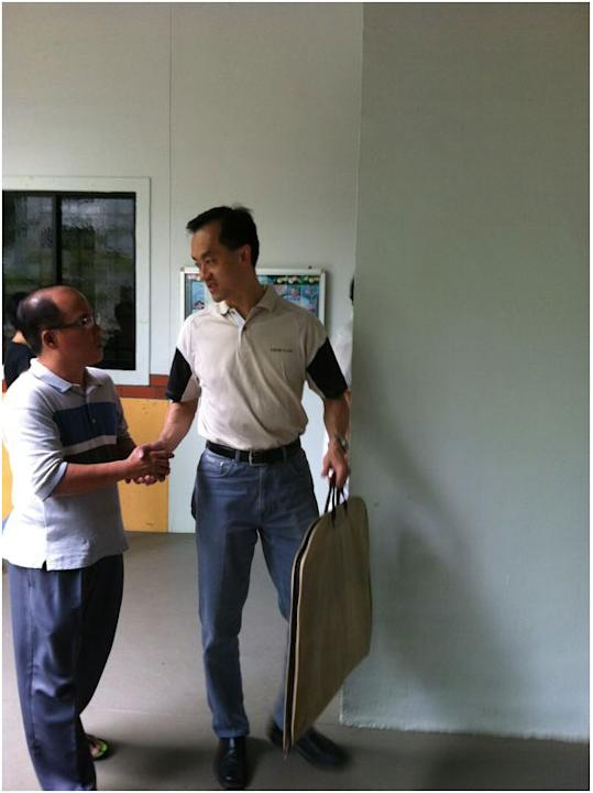 Dr Koh Poh Koon arrives at a Punggol East education centre for the start of PAP's thank you parade.