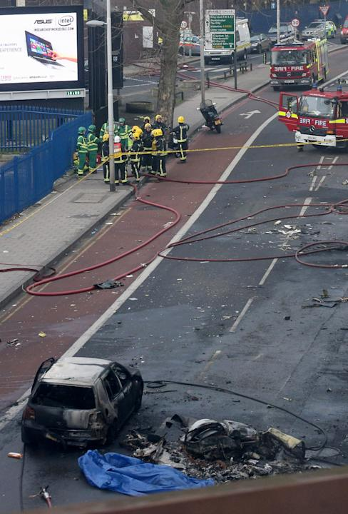 Helicopter Crashes in Vauxhall, South London