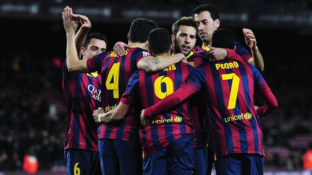 Liga - Freak own goal helps Barca to Copa win over Sociedad