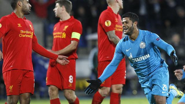 Europa League - Zenit punish Liverpool in Russia