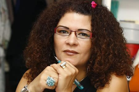 Prominent Egyptian poet Fatima Naoot is pictured in Cairo in this file photo taken on September 24, 2008. REUTERS/Al Youm Al Saabi Newspaper