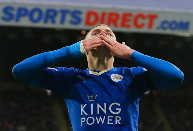 Leicester City's Jamie Vardy has scored 24 goals for club and country so far this season as the Foxes close in on what would be a remarkable Premier League title triump