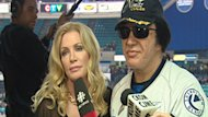 Shannon Tweed and partner Gene Simmons appeared at a Saskatoon Blades hockey game last November during their visit north last November.