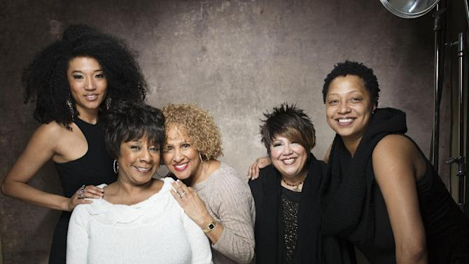 "FILE - This Jan. 21, 2013 file photo shows singers, from left, Judith Hill, Merry Clayton, Darlene Love, Tata Vega and Lisa Fischer from the film ""20 Feet from Stardom"" at the 2013 Sundance Film Festival at the Fender Music Lodge in Park City, Utah. The documentary about backup singers also features Mick Jagger, Bruce Springsteen, Bette Midler and Stevie Wonder. (Photo by Victoria Will/Invision/AP, file)"
