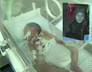 """Doctors said Shayma was a """"miracle"""" as she was saved after her mother died. Shayma died in an incubator five days later"""