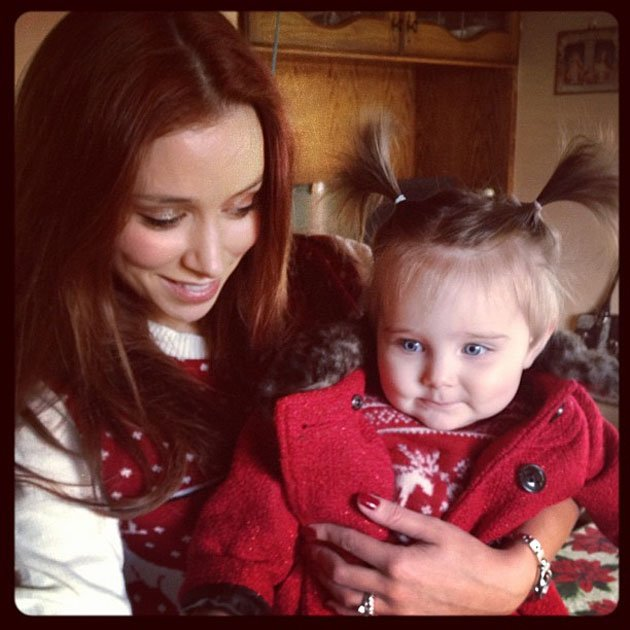 Una Healy and Aoife Belle at Christmas