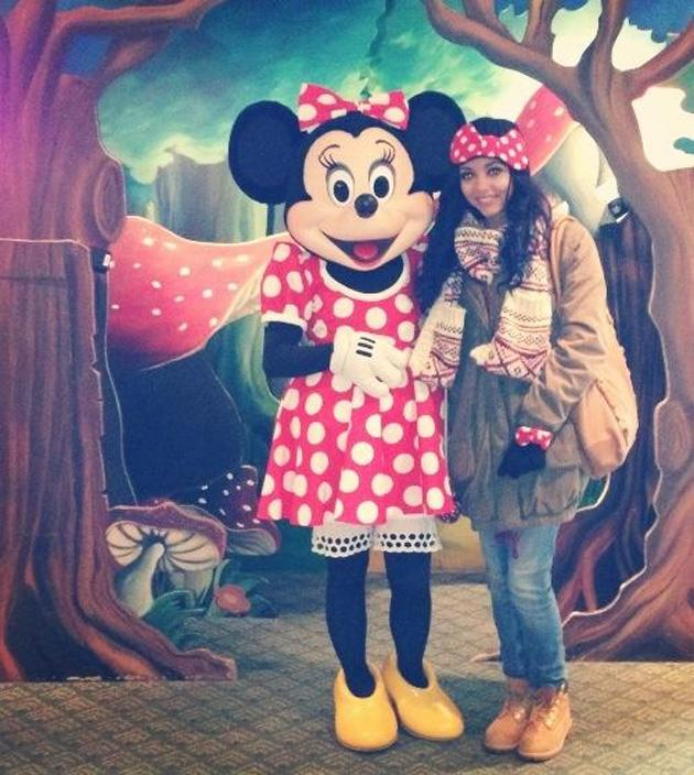 Celebrity Twitpics: Little Mix's Jade Thirlwall had a romantic break with her boyfriend over Christmas and New Year, with the pair heading to Disneyland Paris. She even met her 'idol' Minnie Mouse! Co