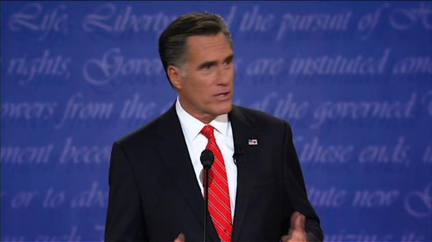 """SHOTLIST: DES MOINES, IOWA, DECEMBER 10, 2011, SOURCE: ABC **RESTRICTIONS: - NO RESALE for non-editorial use SOUNDBITE Mitt Romney, followed by Rick Perry (man), Former Massachusetts Governor, Governor of Texas (English, 13 sec): """"No no."""" """"It is true now."""" """"Rick I'll tell you what. $10,000 bucks. $10,000 bet? """"I'm not in the betting business, but I'll show you the book."""" NORFOLK, VIRGINIA, AUGUST 11, 2012, SOURCE: POOL **NO RESALE for non-editorial purposes** SOUNDBITE Mitt Romney (man), Republican presidentital candidate (English, sec): """"It's an honor to announce my running mate and the next vice-president of the United States -- Paul Ryan!"""" - Ryan and Romney on stage BOCA RATON, FLORIDA, MAY 17, 2012 (ACCORDING TO MOTHER JONES): EXCERPT OF A VIDEO OF A PRIVATE FUNDRAISER FOR MITT ROMNEY, SOURCE: MOTHER JONES **MANDATORY CREDIT TO MOTHER JONES** **NO RESALE for non-editorial purposes** SOUNDBITE Mitt Romney (man), Republican Presidential candidate (English, 13 sec): """"There are 47 percent who are with him [Barack Obama], who are dependent upon government, who believe that they are victims, who believe the government has a responsibility to care for them, who believe that they are entitled to health care, to food, to housing, to you-name-it."""" TAMPA, FLORIDA, AUGUST 30, 2012, SOURCE: POOL **NO RESALE for non-editorial purposes** - Excerpts of Clint Eastwood talking to an empty chair that is supposed to represent Obama DENVER, COLORADO, OCTOBER 3, 2012, SOURCE: US POOL **NO RESALE for non-editorial purposes** - VAR of first presidential debate where Romney came out as the clear winner OBAMA CAMPAIGN VIDEO (SOURCE : Obama for America) **NO RESALE for non-editorial purposes** - Excerpts from 'Big Bird' ad HEMPSTEAD, NEW YORK, OCTOBER 16, 2012, SOURCE: US POOL **NO RESALE for non-editorial purposes** - excerpt from debate when Mitt Romney talks about """"binders full of women"""" TAMPA, FLORIDA, AUGUST 30, 2012, SOURCE: POOL **NO RESALE for non-editorial purposes** - Romney acc"""