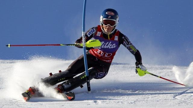 Alpine Skiing - Shiffrin wins slalom World Cup title after victory in Sweden