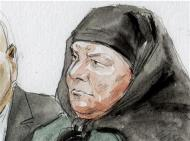 Colleen LaRose is shown in this courtroom sketch during her sentencing hearing in Philadelphia, Pennsylvania January 6, 2014. LaRose, who calls herself Jihad Jane, was sentenced to 10 years in prison Monday for a failed al Qaeda-linked plot to kill a Swedish artist who had depicted the head of the Muslim Prophet Mohammad on a dog. REUTERS/Art Lien