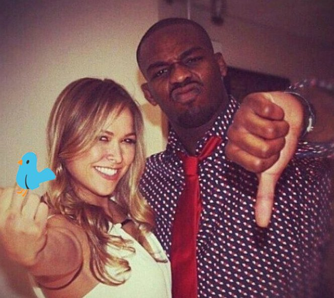 Jon Jones offered words of support for Ronda Rousey after her second straight loss. (Photo credit: Twitter)
