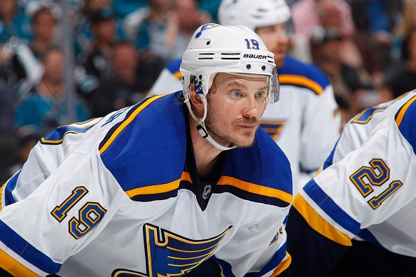 SAN JOSE, CA - MAY 25: Jay Bouwmeester #19 of the St. Louis Blues looks on during the game against the San Jose Sharks in Game Six of the Western Conference Finals during the 2016 NHL Stanley Cup Playoffs at SAP Center on May 25, 2016 in San Jose, California. (Photo by Rocky W. Widner/NHL/Getty Images)