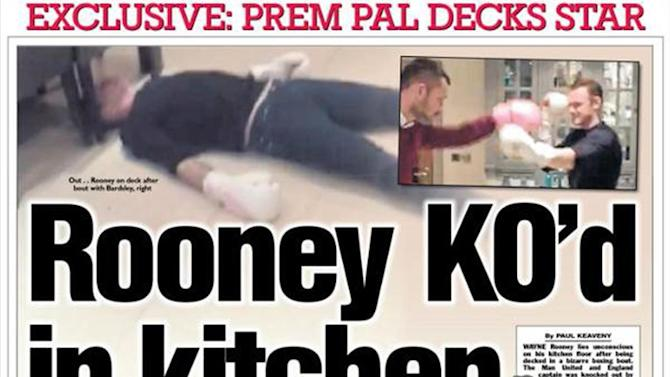Wayne Rooney Kitchen Premier League Wayne Rooney knocked out in his own kitchen in