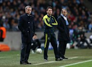Roberto Mancini, right, is not interested in what Jose Mourinho has to say
