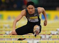 Chinese track star Liu Xiang at the Diamond League athletics meet in London on July 13. In Tuesday's heats, he will have an extra motivation to snatch back his crown as he renews his rivalry with defending champion Dayron Robles and Aries Merritt