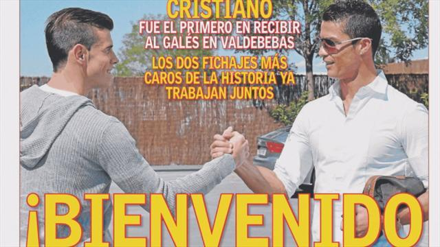 Liga - Ronaldo welcomes Bale to Madrid