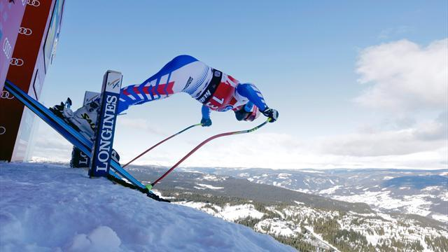 Alpine Skiing - Poisson tops downhill training