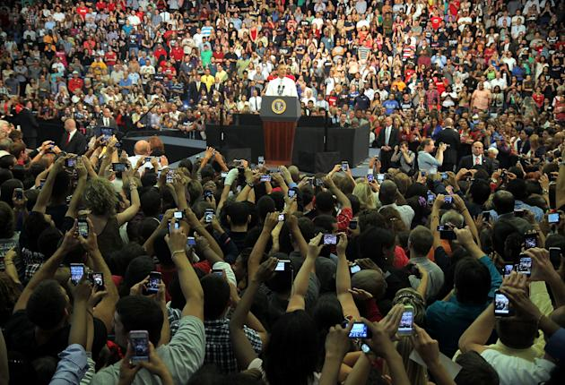 Obama Discusses The Economy And The Buffett Rule At Florida Atlantic Univ.