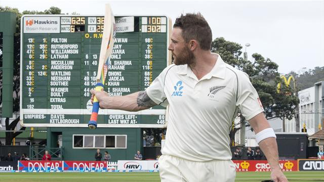 Cricket - McCullum makes New Zealand history with triple century