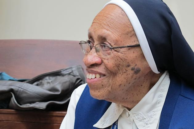 Sister Loretta Theresa Richards, 86, a Roman Catholic nun in need of health care, discusses the decision her order made to close its infirmary and send her and other nuns to Jewish Home Lifecare  in t