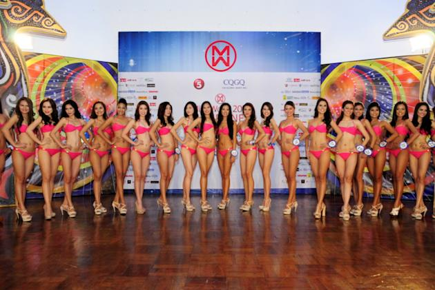 Miss World Philippines 2012 candidates (NPPA Images)