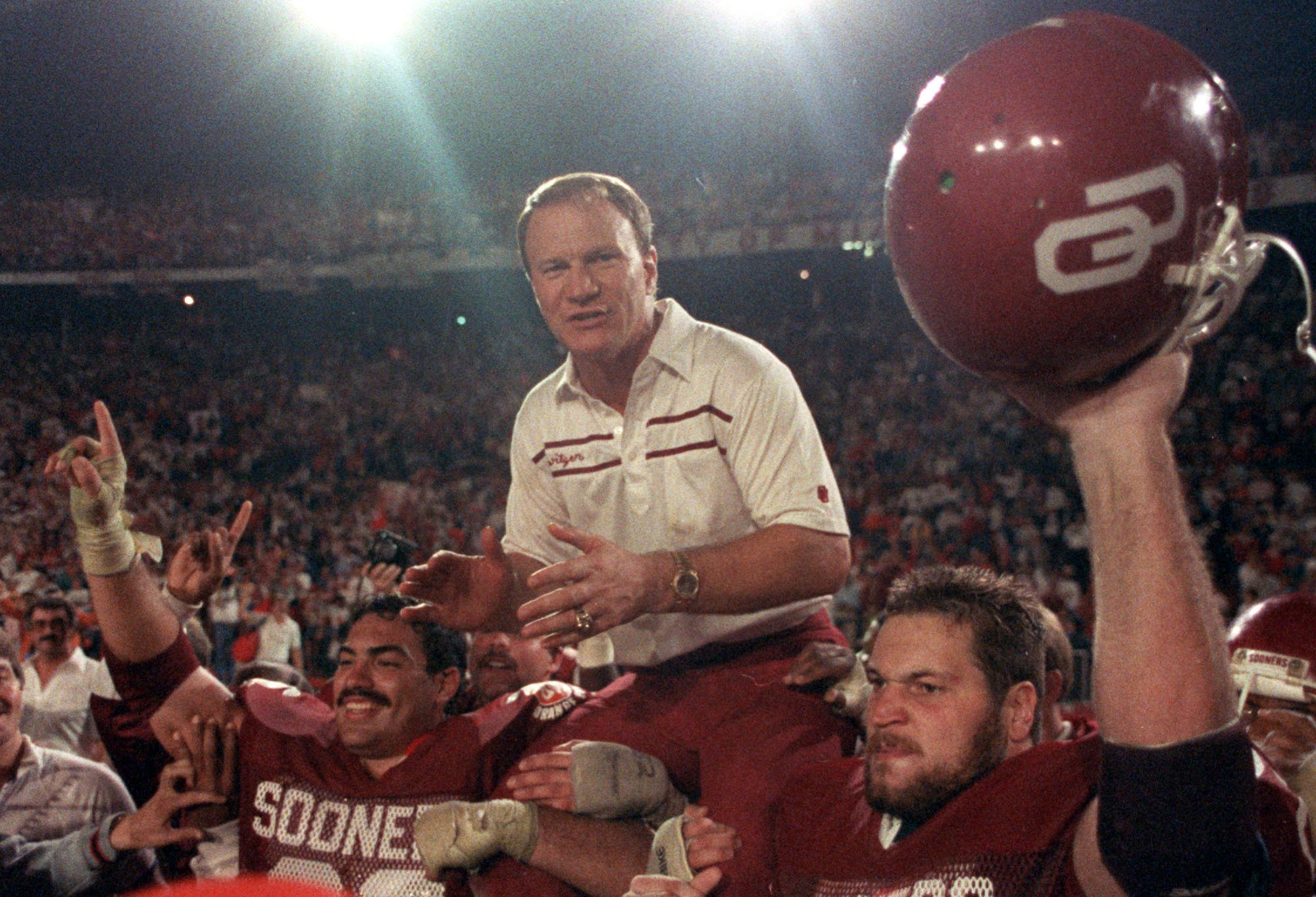Former Oklahoma coach barry Switzer admitted to creating fake news for his own personal enjoyment. (AP)