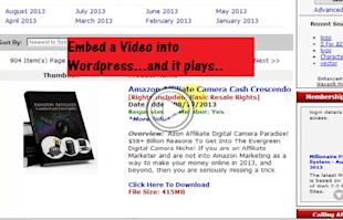 Upload a Video to WordPress – New Media Player Embed image embed video
