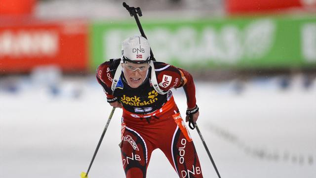 Biathlon - Berger dominates Anterselva pursuit