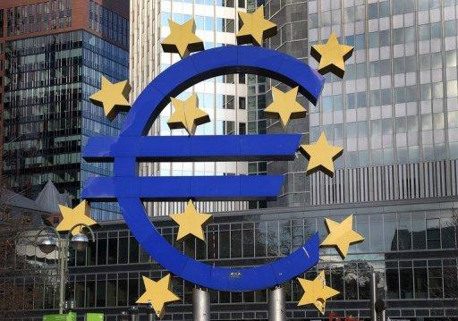The Euro logo is seen in front of the European Central Bank in Frankfurt/Main, western Germany, on December 6, 2012. The battered euro, written off as a dud many times during a crisis-wracked year, appears to have survived 2012, but 2013 could prove just as difficult if the economy continues to struggle.