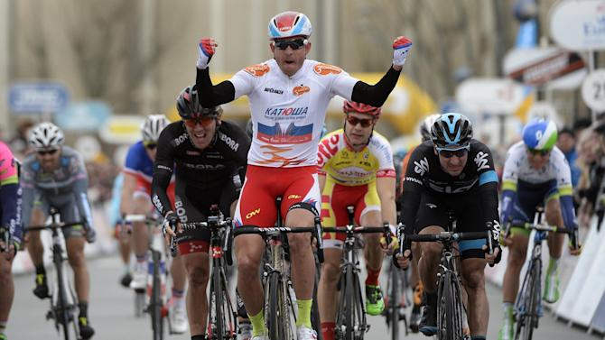 Cycling - Alexander Kristoff extends Three Days of De Panne lead, Bradley Wiggins further behind