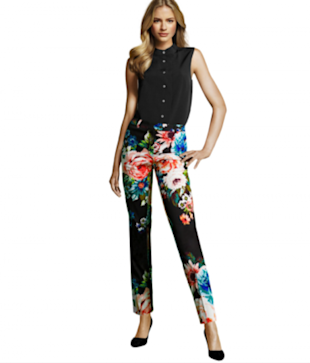 H&M Printed Pants in Black/Floral, $14.95