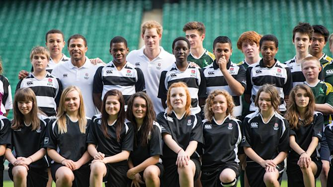 Prince Harry Attends RFU All School Programme Coaching Event