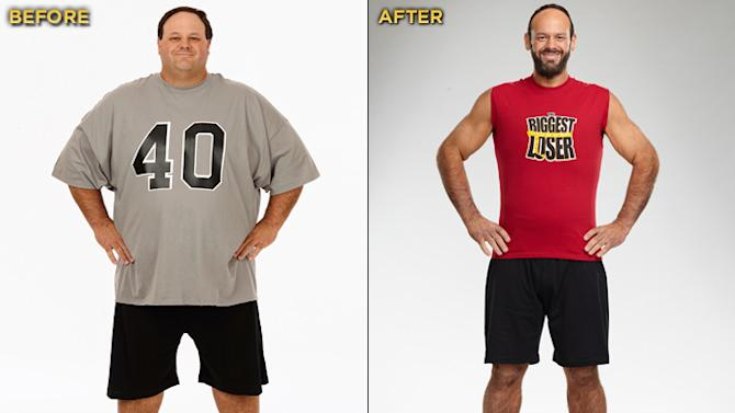 """The Season 12 champ of """"Biggest Loser"""" and winner of the $250,000 prize is 41-year-old special education teacher and football coach John Rhode. He started the competition at 445 lbs. and lost a total of 225 lbs."""