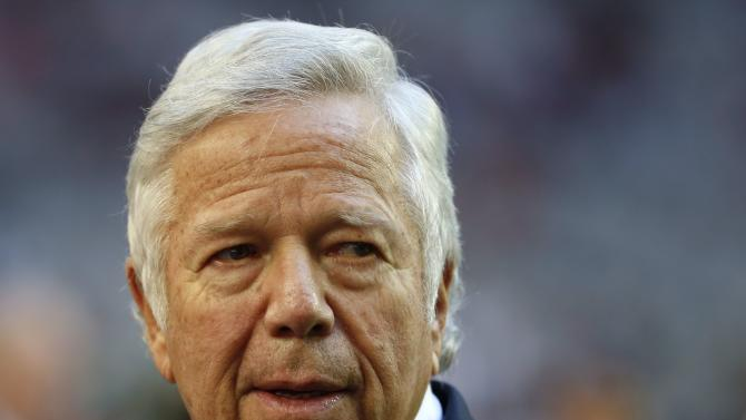 New England Patriots owner Robert Kraft attends NFL Super Bowl XLIX football game against the Seattle Seahawks in Glendale