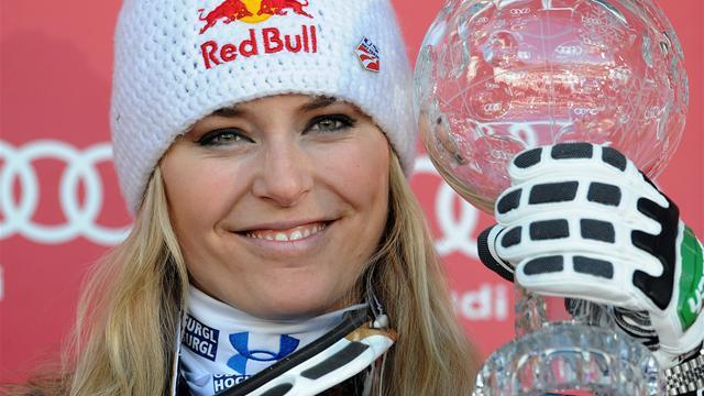 Alpine Skiing - Plan to race men not seen as serious, Vonn says