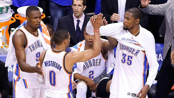 Basketball - Thunder rumble past Spurs to level series