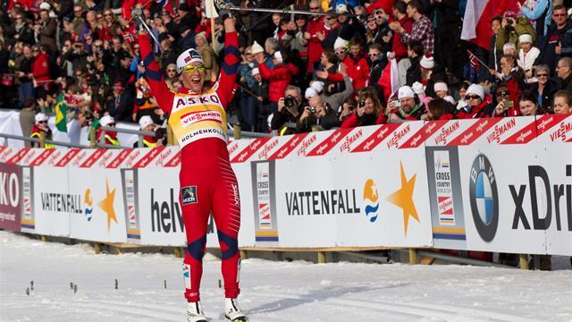 Cross-Country Skiing - Bjoergen nears overall title with Sweden win
