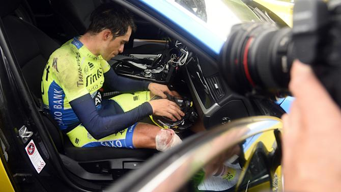Tour de France - Contador abandons Tour after heavy crash